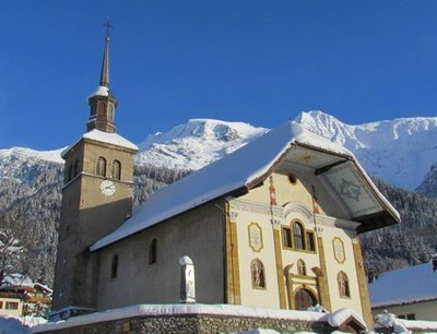 photo de l'église des Contamines-Montjoie